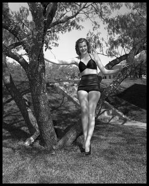 Primary view of object titled 'Joyce Smith - Informal Portrait in Bathing Suit'.