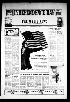 Primary view of object titled 'The Wylie News (Wylie, Tex.), Vol. 22, No. 4, Ed. 1 Thursday, July 3, 1969'.