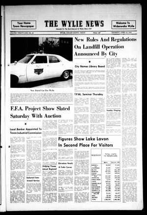 The Wylie News (Wylie, Tex.), Vol. 21, No. 46, Ed. 1 Thursday, April 24, 1969