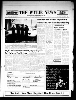 Primary view of object titled 'The Wylie News (Wylie, Tex.), Vol. 22, No. 33, Ed. 1 Thursday, January 29, 1970'.