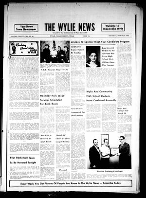 The Wylie News (Wylie, Tex.), Vol. 22, No. 40, Ed. 1 Thursday, March 19, 1970