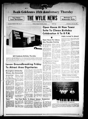 Primary view of object titled 'The Wylie News (Wylie, Tex.), Vol. 22, No. 50, Ed. 1 Thursday, May 28, 1970'.