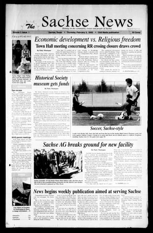Primary view of object titled 'The Sachse News (Sachse, Tex.), Vol. 1, No. 1, Ed. 1 Thursday, February 3, 2005'.