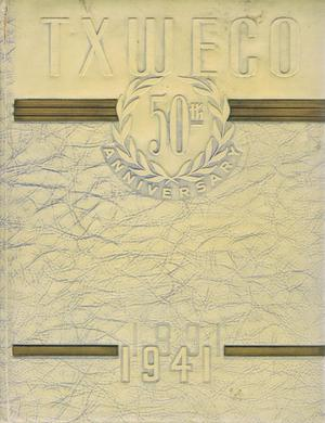 Primary view of object titled 'TXWECO, Yearbook of Texas Wesleyan College, 1941'.