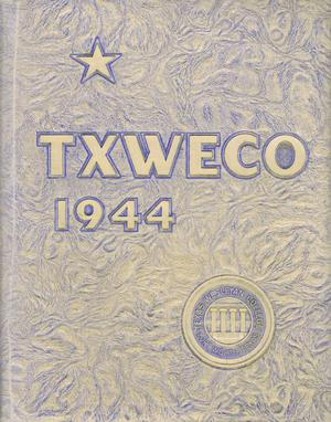 Primary view of object titled 'TXWECO, Yearbook of Texas Wesleyan College, 1944'.