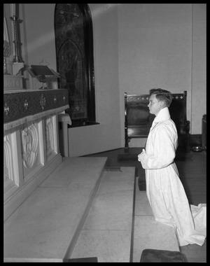 Primary view of object titled 'Dean Davis, St. David's Altar Boy'.
