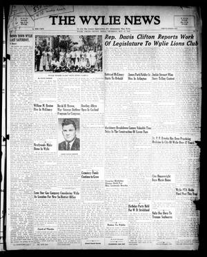 The Wylie News (Wylie, Tex.), Vol. 1, No. 9, Ed. 1 Thursday, May 13, 1948