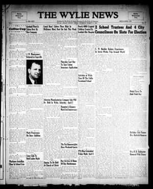 The Wylie News (Wylie, Tex.), Vol. 2, No. 3, Ed. 1 Thursday, March 31, 1949