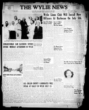 Primary view of object titled 'The Wylie News (Wylie, Tex.), Vol. 1, No. 16, Ed. 1 Thursday, July 1, 1948'.