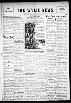Primary view of object titled 'The Wylie News (Wylie, Tex.), Vol. 3, No. 14, Ed. 1 Friday, June 23, 1950'.