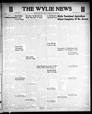 The Wylie News (Wylie, Tex.), Vol. 1, No. 46, Ed. 1 Thursday, January 27, 1949