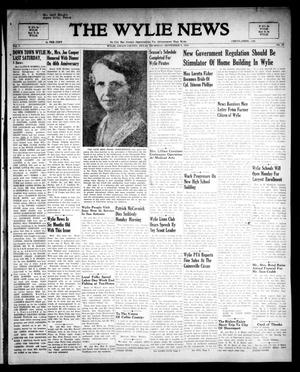The Wylie News (Wylie, Tex.), Vol. 1, No. 26, Ed. 1 Thursday, September 9, 1948