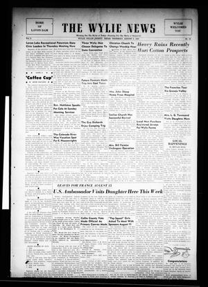 Primary view of object titled 'The Wylie News (Wylie, Tex.), Vol. 3, No. 20, Ed. 1 Thursday, August 3, 1950'.