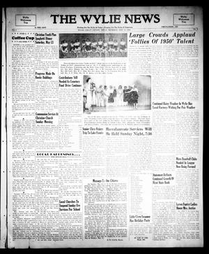 Primary view of object titled 'The Wylie News (Wylie, Tex.), Vol. 3, No. 8, Ed. 1 Thursday, May 11, 1950'.