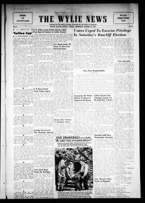 Primary view of object titled 'The Wylie News (Wylie, Tex.), Vol. 3, No. 23, Ed. 1 Thursday, August 24, 1950'.