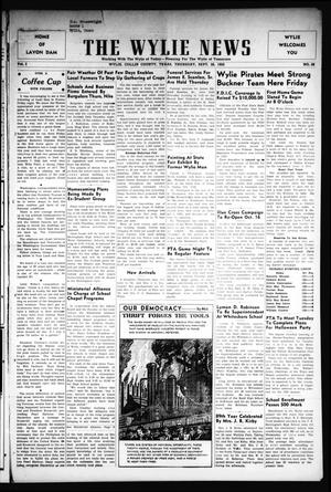 Primary view of object titled 'The Wylie News (Wylie, Tex.), Vol. 3, No. 28, Ed. 1 Thursday, September 28, 1950'.
