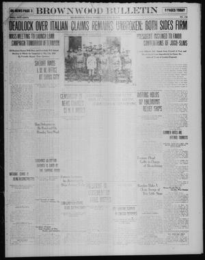 Primary view of object titled 'Brownwood Bulletin (Brownwood, Tex.), Vol. 18, No. 156, Ed. 1 Wednesday, April 23, 1919'.