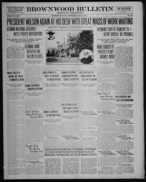 Brownwood Bulletin (Brownwood, Tex.), No. 221, Ed. 1 Wednesday, July 9, 1919