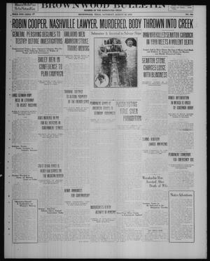 Primary view of object titled 'Brownwood Bulletin (Brownwood, Tex.), No. 266, Ed. 1 Saturday, August 30, 1919'.