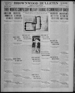 Primary view of object titled 'Brownwood Bulletin (Brownwood, Tex.), No. 243, Ed. 1 Monday, August 4, 1919'.