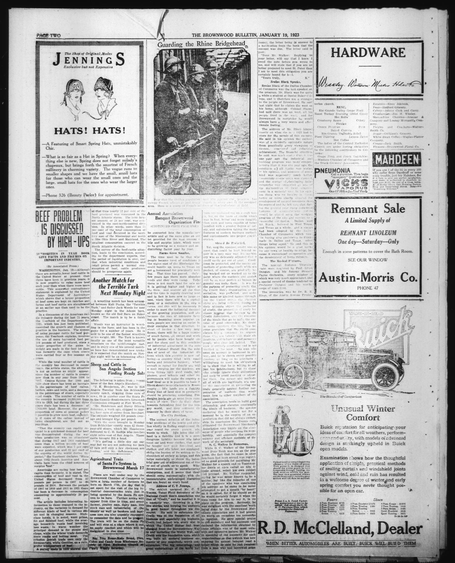 Brownwood Bulletin Brownwood Tex Vol 23 No 80 Ed 1
