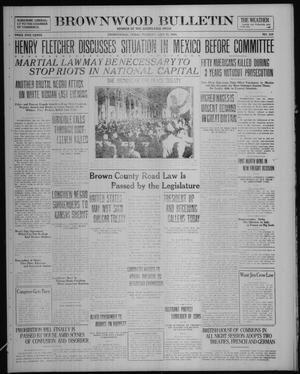 Primary view of object titled 'Brownwood Bulletin (Brownwood, Tex.), No. 232, Ed. 1 Tuesday, July 22, 1919'.