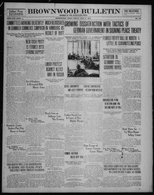Primary view of object titled 'Brownwood Bulletin (Brownwood, Tex.), No. 212, Ed. 1 Friday, June 27, 1919'.