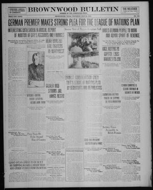Primary view of object titled 'Brownwood Bulletin (Brownwood, Tex.), No. 234, Ed. 1 Thursday, July 24, 1919'.