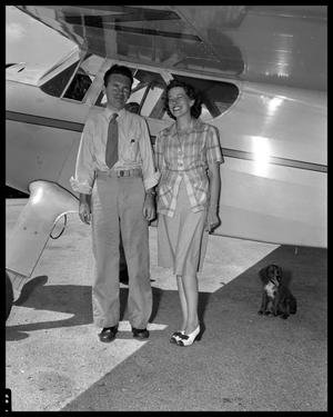 Primary view of object titled 'Bob Ragsdale and Wife with Cessna'.