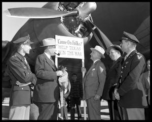 Primary view of object titled 'Del Valle Air Base Open House with Governor Coke Stevenson'.