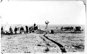 Primary view of object titled '[Surveyors Breaking Camp]'.