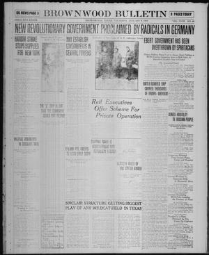 Primary view of object titled 'Brownwood Bulletin (Brownwood, Tex.), Vol. 18, No. 68, Ed. 1 Thursday, January 9, 1919'.