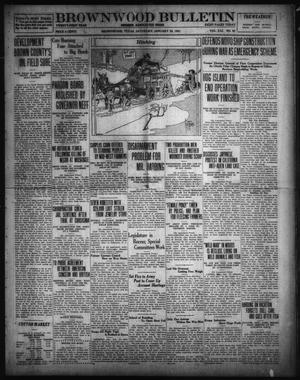 Primary view of object titled 'Brownwood Bulletin (Brownwood, Tex.), Vol. 21, No. 83, Ed. 1 Saturday, January 22, 1921'.