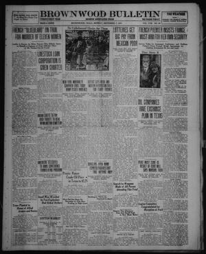 Primary view of object titled 'Brownwood Bulletin (Brownwood, Tex.), Vol. 22, No. 20, Ed. 1 Monday, November 7, 1921'.