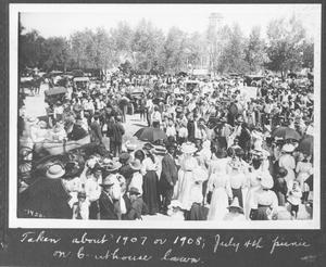 Primary view of object titled '[Fourth of July Picnic on Old Courthouse Grounds]'.