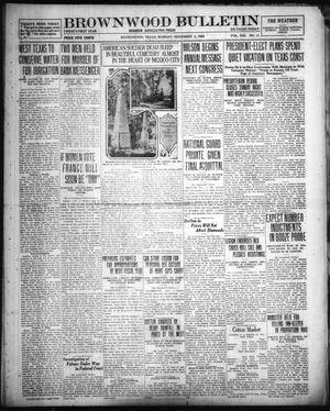 Primary view of object titled 'Brownwood Bulletin (Brownwood, Tex.), Vol. 21, No. 21, Ed. 1 Monday, November 8, 1920'.