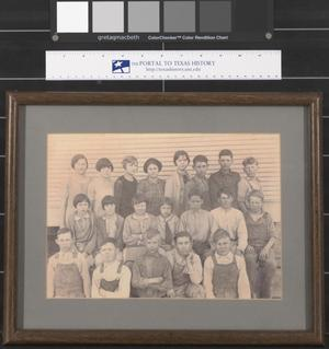 Primary view of object titled '[Unidentified School Children from Anderson County]'.