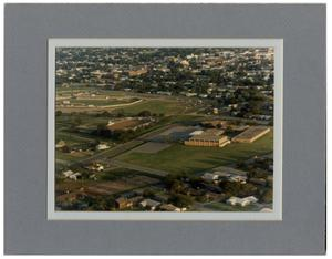 Primary view of object titled 'Aerial Photo of High School, Rodeo Arena, Football Stadium'.