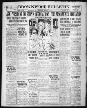 Primary view of Brownwood Bulletin (Brownwood, Tex.), Vol. 23, No. 49, Ed. 1 Wednesday, December 13, 1922