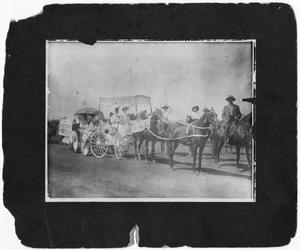 Primary view of object titled 'Ladies in White Lining Up For the Parade'.