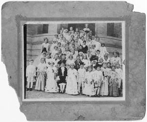 Primary view of object titled 'School-aged Childred in Colonial-Era Costumes'.