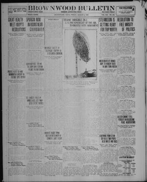 Primary view of object titled 'Brownwood Bulletin (Brownwood, Tex.), Vol. 21, No. 248, Ed. 1 Friday, August 5, 1921'.