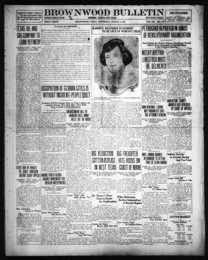 Primary view of object titled 'Brownwood Bulletin (Brownwood, Tex.), Vol. 21, No. 122, Ed. 1 Wednesday, March 9, 1921'.