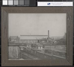 Primary view of object titled '[Railroad Depot in Childress County]'.