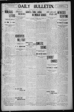 Primary view of object titled 'Daily Bulletin. (Brownwood, Tex.), Vol. 12, No. 300, Ed. 1 Thursday, October 10, 1912'.