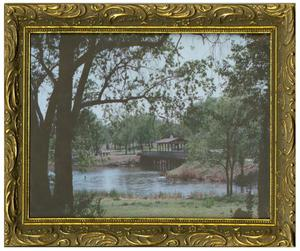 Primary view of object titled '[Photograph of the New Bridge at Fair Park]'.