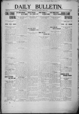 Primary view of object titled 'Daily Bulletin. (Brownwood, Tex.), Vol. 12, No. 119, Ed. 1 Monday, March 11, 1912'.