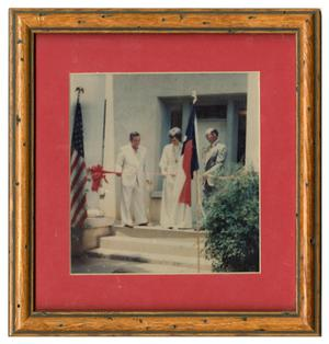 Primary view of object titled 'Ribbon Cutting of the First Childress County Heritage Museum'.