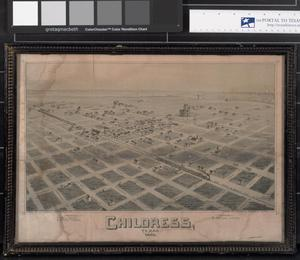 Primary view of object titled '[Map of Childress, Texas, 1890]'.