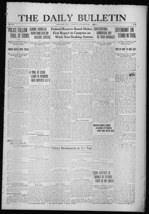 Primary view of object titled 'The Daily Bulletin (Brownwood, Tex.), Vol. 14, No. 88, Ed. 1 Wednesday, January 27, 1915'.
